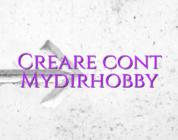 Creare cont Mydirhobby