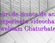 Locuri de munca de acasa fara experienta videochat fata webcam Chaturbate