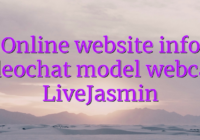 Online website info videochat model webcam LiveJasmin