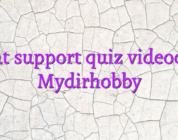 Chat support quiz videochat Mydirhobby
