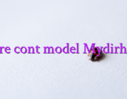 Creare cont model Mydirhobby