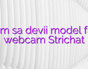 Cum sa devii model fata webcam Strichat