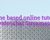 Home based online tutorial videochat Streamate