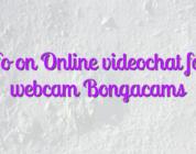 Info on Online videochat fata webcam Bongacams