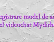 Inregistrare model de acasa model videochat Mydirhobby