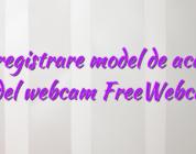 Inregistrare model de acasa model webcam FreeWebcams
