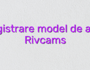 Inregistrare model de acasa Rivcams