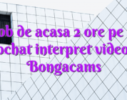 Job de acasa 2 ore pe zi videochat interpret videochat Bongacams