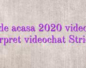 Job de acasa 2020 videochat interpret videochat Strichat