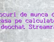 Locuri de munca de acasa pe calculator videochat Streamray