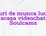 Locuri de munca lucrezi acasa videochat Soulcams