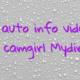 Online auto info videochat model camgirl Mydirhobby
