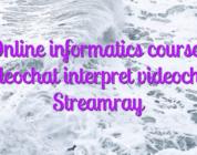 Online informatics courses videochat interpret videochat Streamray