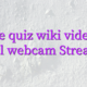Online quiz wiki videochat model webcam Streamray