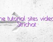 Online tutorial sites videochat Strichat