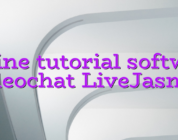Online tutorial software videochat LiveJasmin