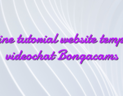 Online tutorial website template videochat Bongacams