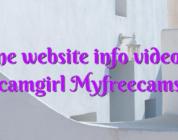 Online website info videochat camgirl Myfreecams