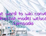 Online word to wiki converter videochat model webcam Camsoda