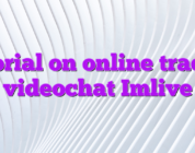 Tutorial on online trading videochat Imlive