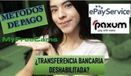 MYFREECAMS Metode de plată și cum să le asociați (PAXUM ȘI EPAYSERVICES)  Transfer bancar direct