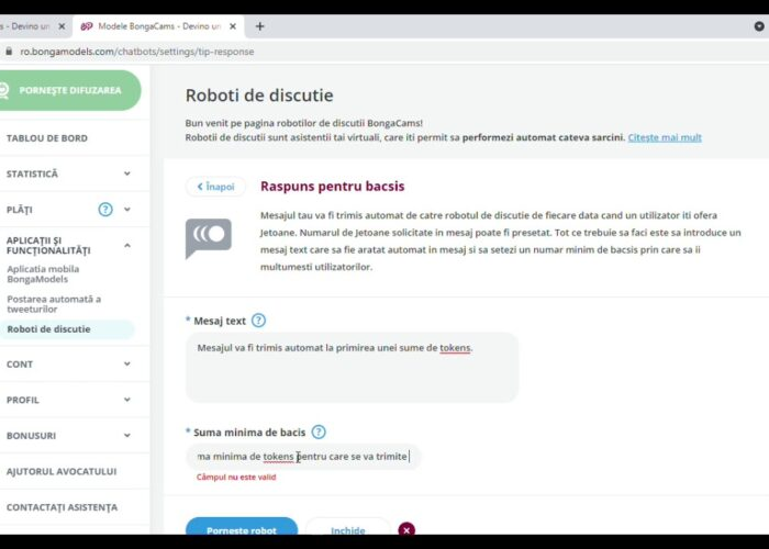 Configurați răspunsul pentru sfatul ChatBots Bongamodels