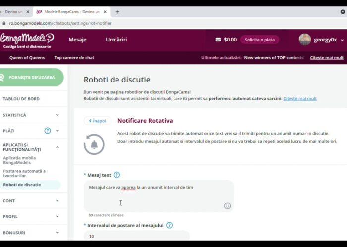 Configurați Rotary Notification ChatBot Bongamodels